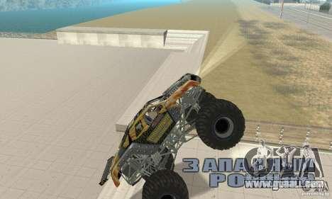 Monster Truck Maximum Destruction for GTA San Andreas back view