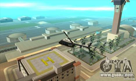 Police Maverick 2 for GTA San Andreas left view