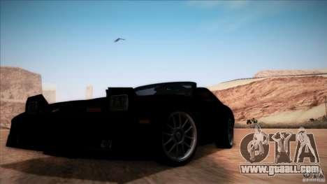 Pontiac Firebird Trans Am for GTA San Andreas side view