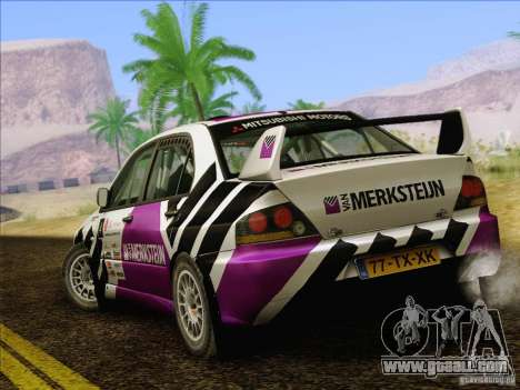 Mitsubishi Lancer Evolution IX Rally for GTA San Andreas bottom view