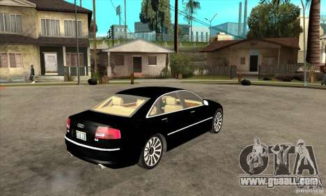 Audi A8 from Carrier 3 for GTA San Andreas right view