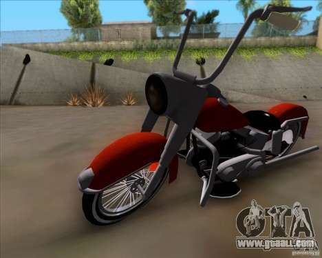Harley-Davidson FL Duo Glide 1961 (Lowrider) for GTA San Andreas left view