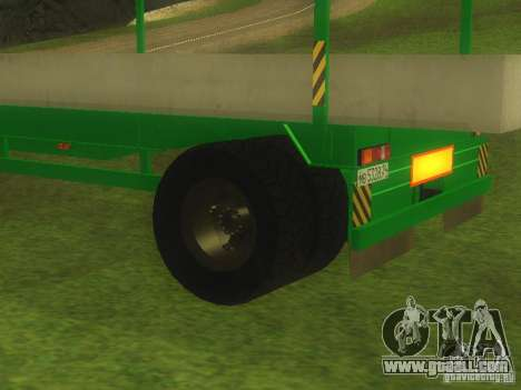TCM trailer-993910 for GTA San Andreas back view