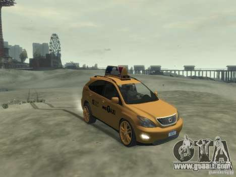 Lexus RX400 New York Taxi for GTA 4 left view