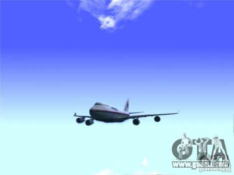 Boeing 747-400 Malaysia Airlines for GTA San Andreas right view