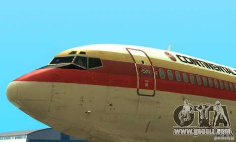 Boeing 707-300 for GTA San Andreas back left view