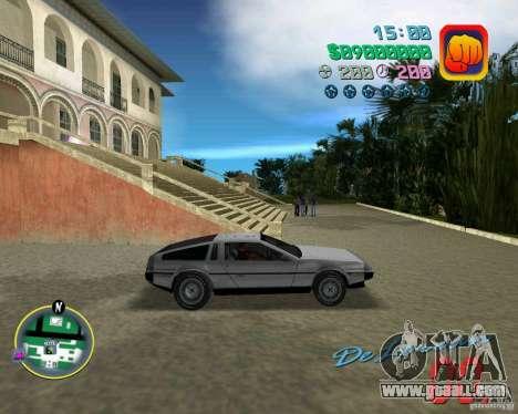 DeLorean DMC 12 for GTA Vice City side view