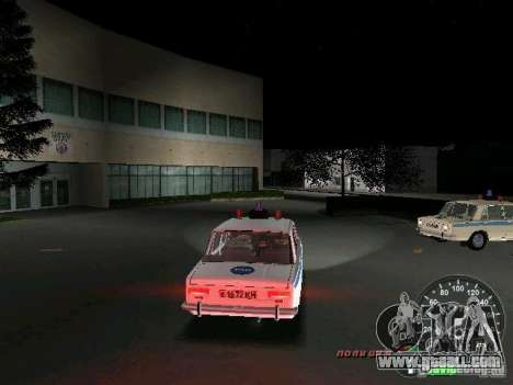 VAZ 2101 Police for GTA Vice City right view
