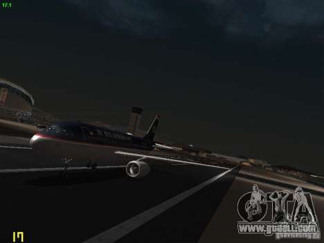Airbus A319 USAirways for GTA San Andreas left view