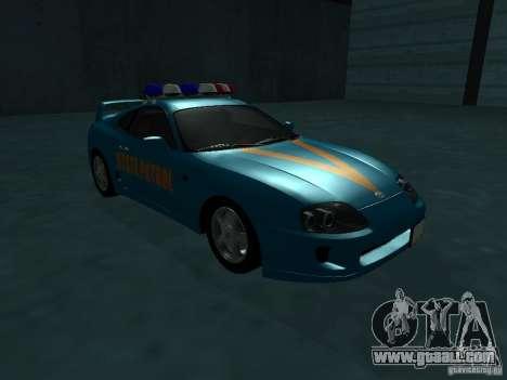 Toyota Supra California State Patrol for GTA San Andreas left view
