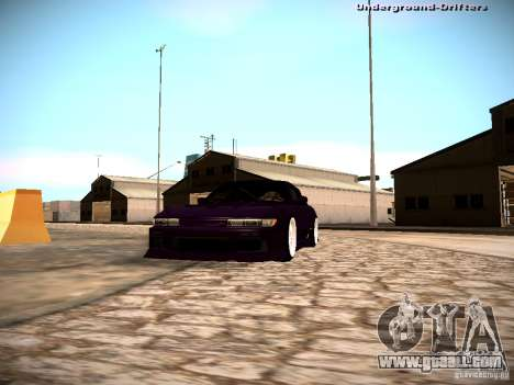 Nissan Silvia S13 Tandem Of DIE for GTA San Andreas back view