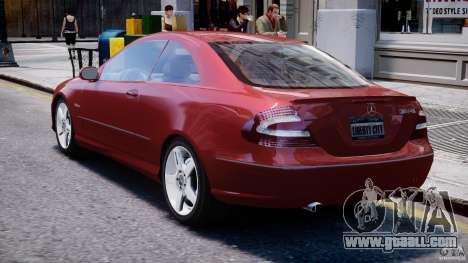 Mercedes-Benz CLK 63 AMG 2005 for GTA 4 right view