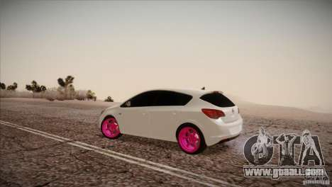 Opel Astra 2010 for GTA San Andreas left view