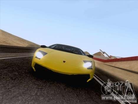 Lamborghini Murcielago LP670–4 SuperVeloce for GTA San Andreas back left view