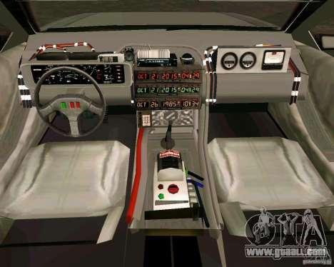 BTTF DeLorean DMC 12 for GTA Vice City left view