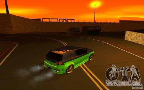 Volkswagen Golf V R32 Custom for GTA San Andreas inner view