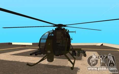 AH 6 for GTA San Andreas back view