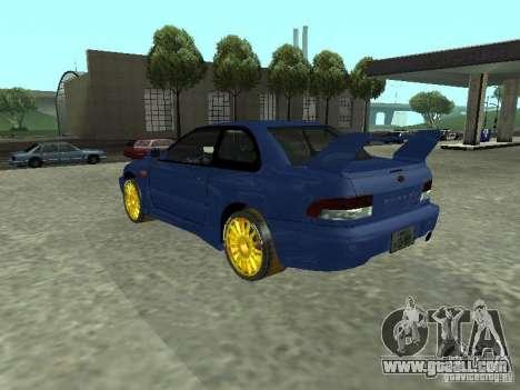 Subaru Impreza 22B STI for GTA San Andreas left view