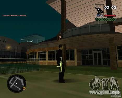 MP5 Gold for GTA San Andreas third screenshot