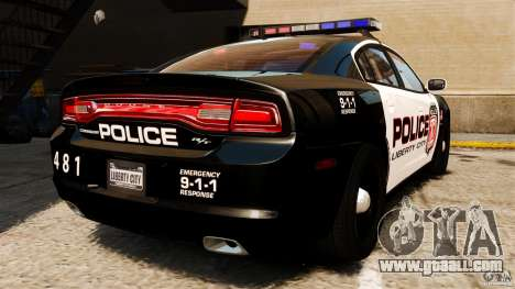 Dodge Charger RT Max Police 2011 [ELS] for GTA 4 back left view