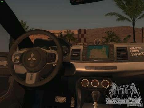 Mitsubishi  Lancer Evo X BMS Edition for GTA San Andreas upper view