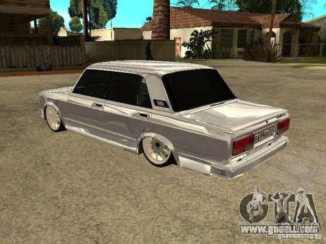 VAZ 2107 Convertible for GTA San Andreas right view