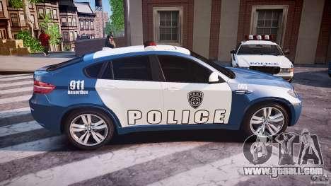 BMW X6M Police for GTA 4 side view