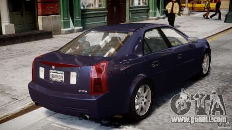 Cadillac CTS for GTA 4 upper view