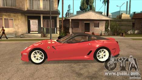 Ferrari 599 GTO 2010 V1.0 for GTA San Andreas left view