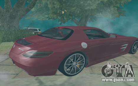 Mercedes-Benz SLS AMG 2011 V3.0 for GTA San Andreas back left view