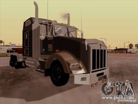 Kenworth T800 for GTA San Andreas back left view