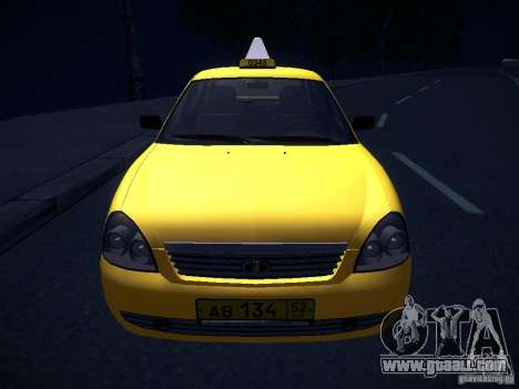 LADA 2170 Priora Taxi TMK Afterburner for GTA San Andreas upper view