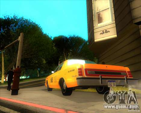 Ford Custom 500 4 door taxi 1975 for GTA San Andreas back left view