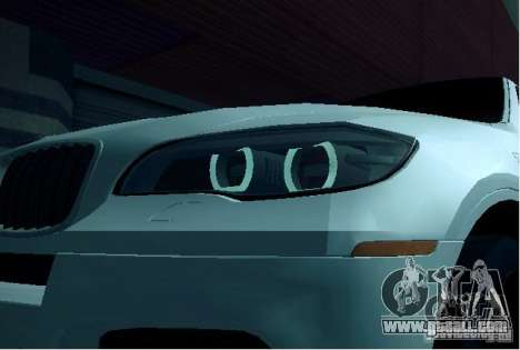 BMW X6M E72 for GTA San Andreas back view