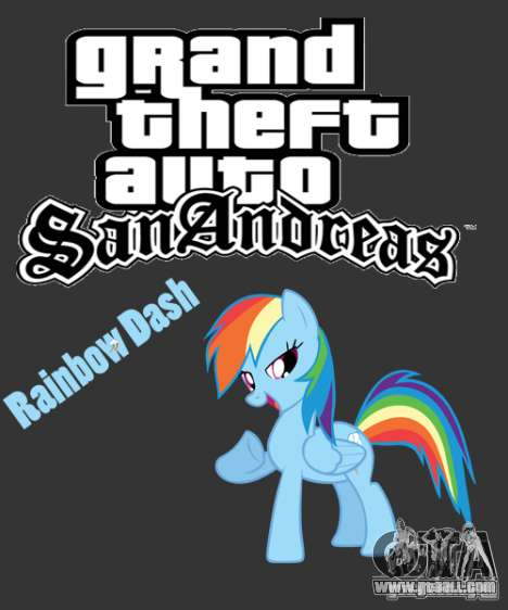 Rainbow Dash Skin for GTA San Andreas