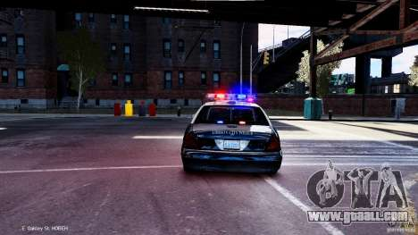 CVPI LCPD San Diego Police Department for GTA 4 right view