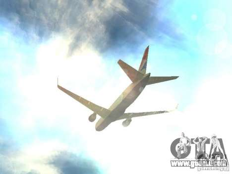 Boeing 767-300 British Airways for GTA San Andreas upper view