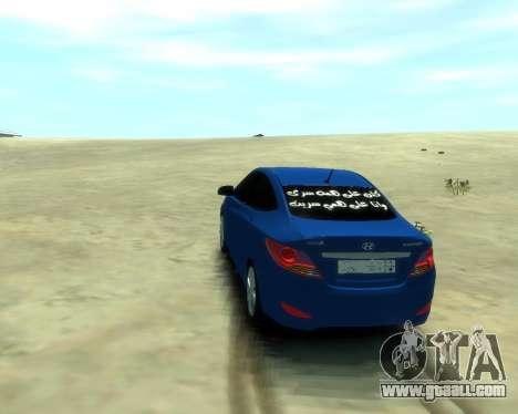 Hyundai Solaris Arab Edition for GTA 4 left view