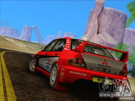 Mitsubishi Lancer Evolution IX Rally for GTA San Andreas right view