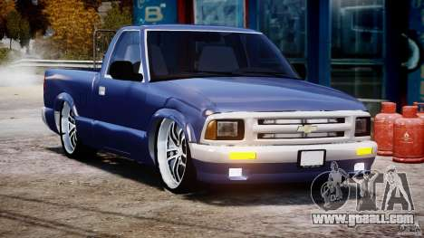 Chevrolet S10 1996 Draggin [Beta] for GTA 4 back view