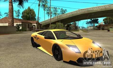 Lamborghini Murcielago LP 670 SV for GTA San Andreas back view