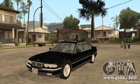 BMW E38 750IL for GTA San Andreas