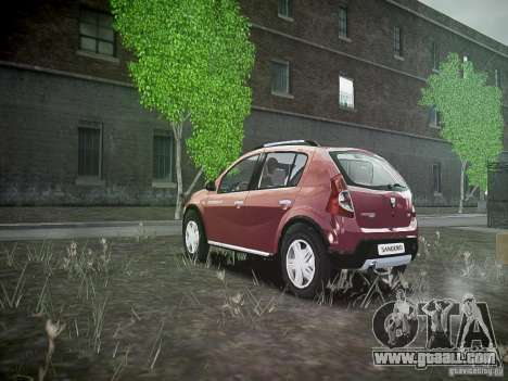 Dacia Sandero Stepway for GTA 4 back left view