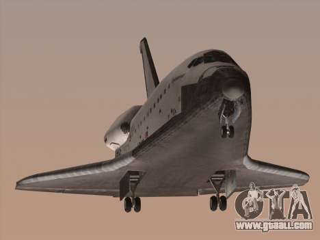 Space Shuttle for GTA San Andreas left view