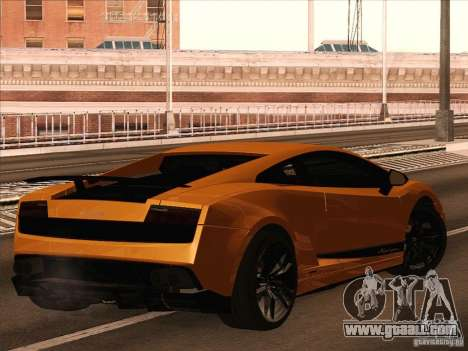 Lamborghini Gallardo Superleggera for GTA San Andreas left view