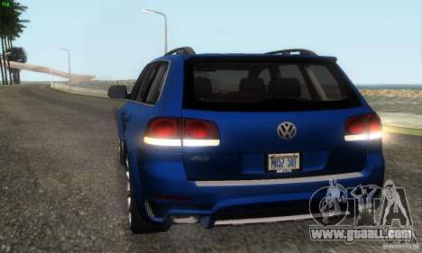 VolksWagen Touareg R50 JE Design Tuning for GTA San Andreas inner view