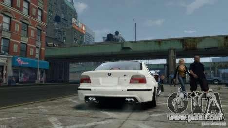 BMW M5 E39 BBC v1.0 for GTA 4 back view