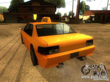 Taxi Sultan for GTA San Andreas back left view