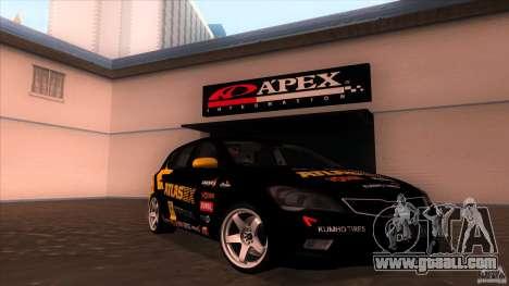 Kia Ceed 2011 for GTA San Andreas back view