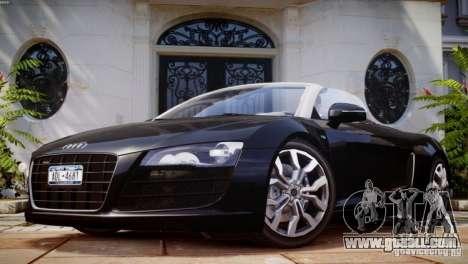 Audi R8 Spyder 5.2 FSI Quattro V4 [EPM] for GTA 4 engine